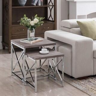 Forza Grey Nesting Gray Table Set
