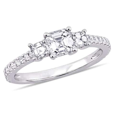 Miadora 14k White Gold 1 1/8ct TDW Certified Diamond Engagement Ring (IGI)
