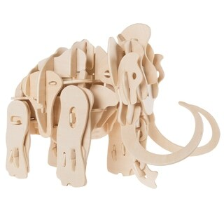3D Wooden Woolly Mammoth Puzzle-Animal Model Toy- STEM Hey! Play!