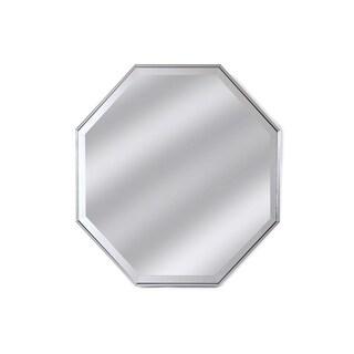 Tivoli Octagon Silver Resin Framed Beveled Wall Mirror