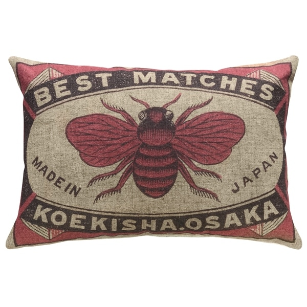 Bee Safety Matches Linen Pillow