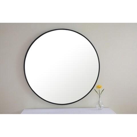 Strick & Bolton Prine Metal Frame Round Mirror
