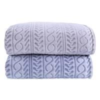 Berkshire Blanket Cable Printed Plush Blanket