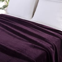Berkshire Blanket Jacquard Braid Plush Blanket