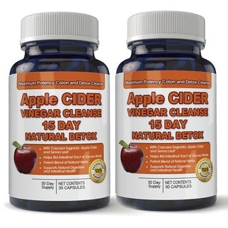 Apple Cider Vinegar Cleanse Natural Detox and Weight Loss (2 bottles x 30 Capsules)