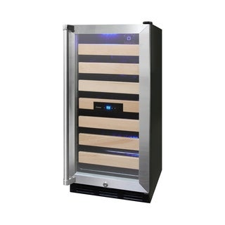 Vinotemp 26-Bottle Wine Cooler with Interior Display - N/A