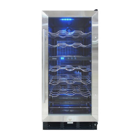 Vinotemp 32-Bottle Wine Cooler with Interior Display
