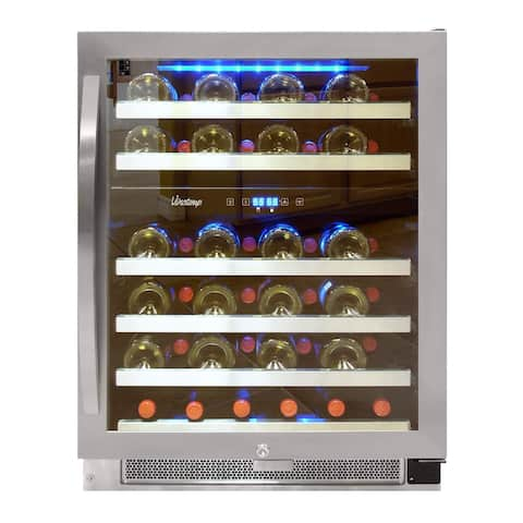 Vinotemp 46-Bottle Dual-Zone Connoisseur Series Wine Cooler