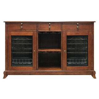 Vinotemp Cava 38-Bottle Wine Storage Credenza (Red Mahogany) - N/A