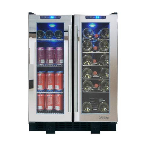 Vinotemp VT-36 Touch Screen Mirrored Wine & Beverage Cooler - N/A