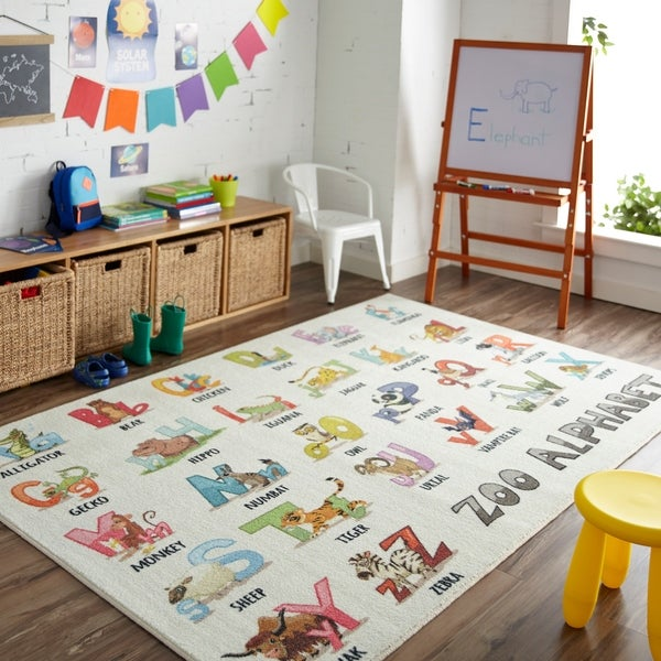 Shop Mohawk Home Prismatic Alphabet Zoo Area Rug