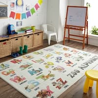 Mohawk Home Prismatic Alphabet Zoo Area Rug - 5'x 8'