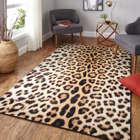 Mohawk Home Prismatic Cheetah Spots Area Rug - 5' x 8'