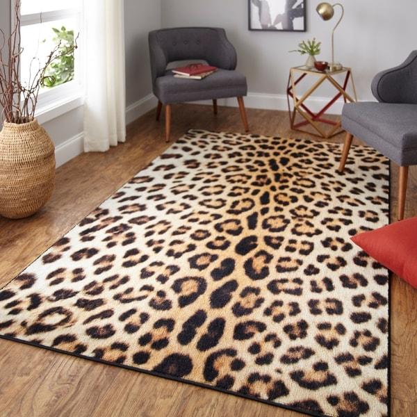 Mohawk Home Prismatic Cheetah Spots Area Rug - 5' x 8'