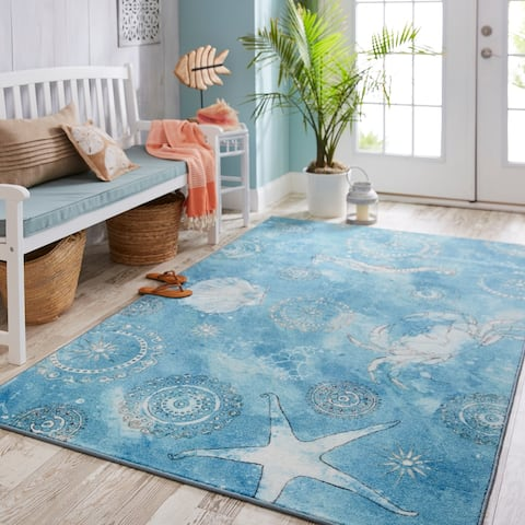 Mohawk Home Prismatic Coastal Splash Area Rug - 5' x 8'