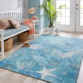 Link to Mohawk Home Coastal Splash Area Rug Similar Items in Rugs