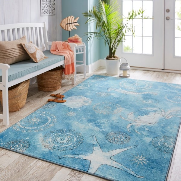 Mohawk Home Coastal Splash Area Rug. Opens flyout.