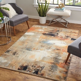 Mohawk Home Prismatic Distressed Canvas Area Rug - 5' x 8'
