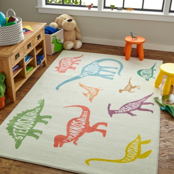 Mohawk Home Prismatic Dinosaurs Area Rug - 5' x 8'