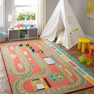 Mohawk Home Prismatic Race Track Play Area Rug - 5'x 8'