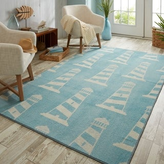 Mohawk Home Prismatic Seaside Lighthouse Area Rug - 5'x 8'