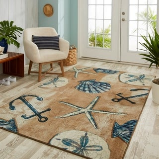Mohawk Home Prismatic Tide Pool Shells Area Rug - 5' x 8'