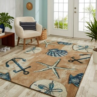 Mohawk Home Prismatic Tide Pool Shells Area Rug - 5'x 8'