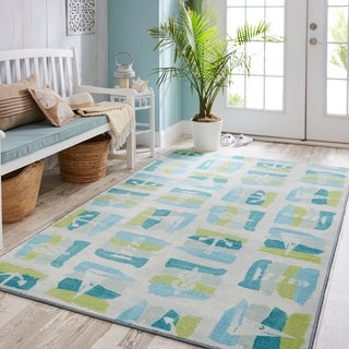 Mohawk Home Prismatic Seaside Swatches Area Rug - 5'x 8'