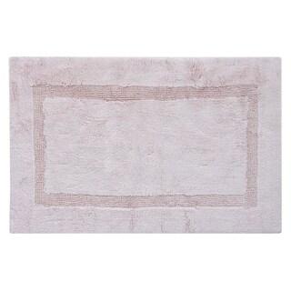 Egyptian Cotton Reversible Bath Rug Inset Border 24 X 40