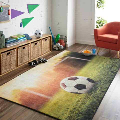 Mohawk Home Prismatic Soccer Goal Area Rug - 5' x 8'