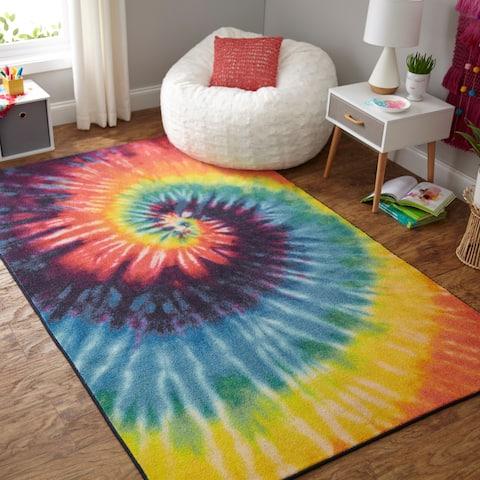 Mohawk Home Prismatic Tie Dye Swirl Area Rug - 5' x 8'