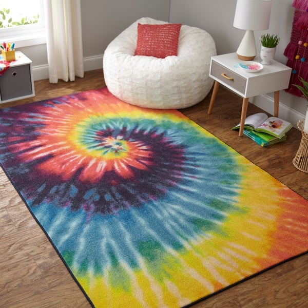 Shop Mohawk Home Prismatic Tie Dye Swirl Area Rug