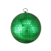 "8"" Green Mirrored Glass Disco Ball Christmas Ornament (200mm)"