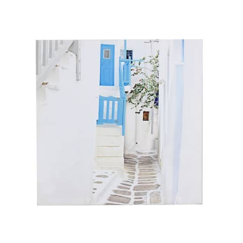 Sagebrook Home BLUE DOOR ALLEY CANVAS PRINT