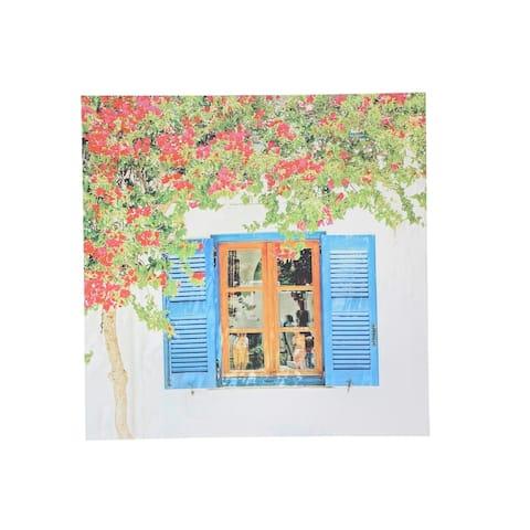 Sagebrook Home TREE & WINDOW CANVAS PRINT