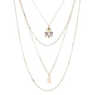 Catherine Malandrino Layered Crystal Necklace