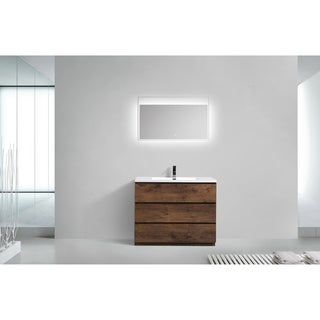 Moreno Bath MOA 42 Inch Free Standing Modern Bathroom Vanity With Reinforced Acrylic Sink