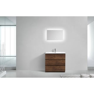 Moreno Bath MOA 36 Inch Free Standing Modern Bathroom Vanity With Reinforced Acrylic Sink
