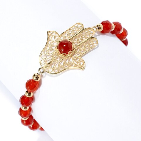 Hamsa Gemstone Symbol Bracelet
