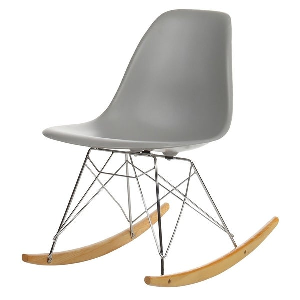 Shop Mid Century Modern Retro Rocking Chair On Sale Free