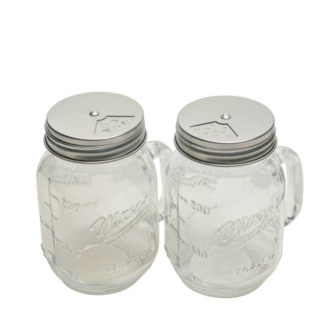 2pk 8oz Mason Glass Shakers W/Multi Dispenser Lids