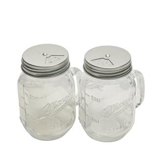 2pk 8oz Mason Glass Shakers W/Multi Dispenser Lids