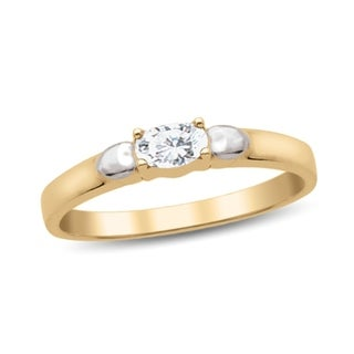 10K Yellow Gold Genuine Birthstone Ring