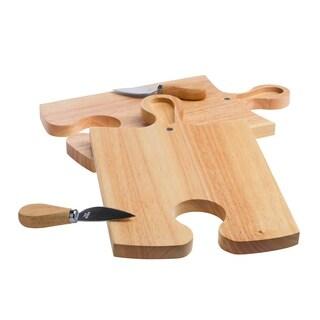 4pc Rubberwood Cheese Set