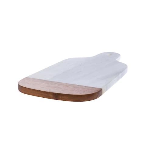Marble & Acacia Large Cutting Board