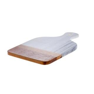 Marble & Acacia Medium Paddles Cutting Board
