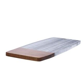 Marble & Acacia Rectangular Cutting Board