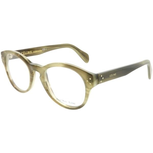 5658a5771ef Shop Celine Round CL 41300 7JV Unisex Green Frame Eyeglasses - Free ...