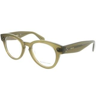 Celine Round CL 41342 QP4 Unisex Military Green Frame Eyeglasses