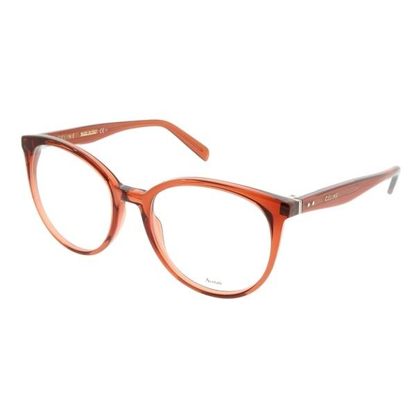 ee098cdedb6 Celine Round CL 41348 Thin Mary EFB Unisex Dark Orange Frame Eyeglasses